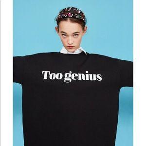 Graphic short sleeve sweatshirt, NWT
